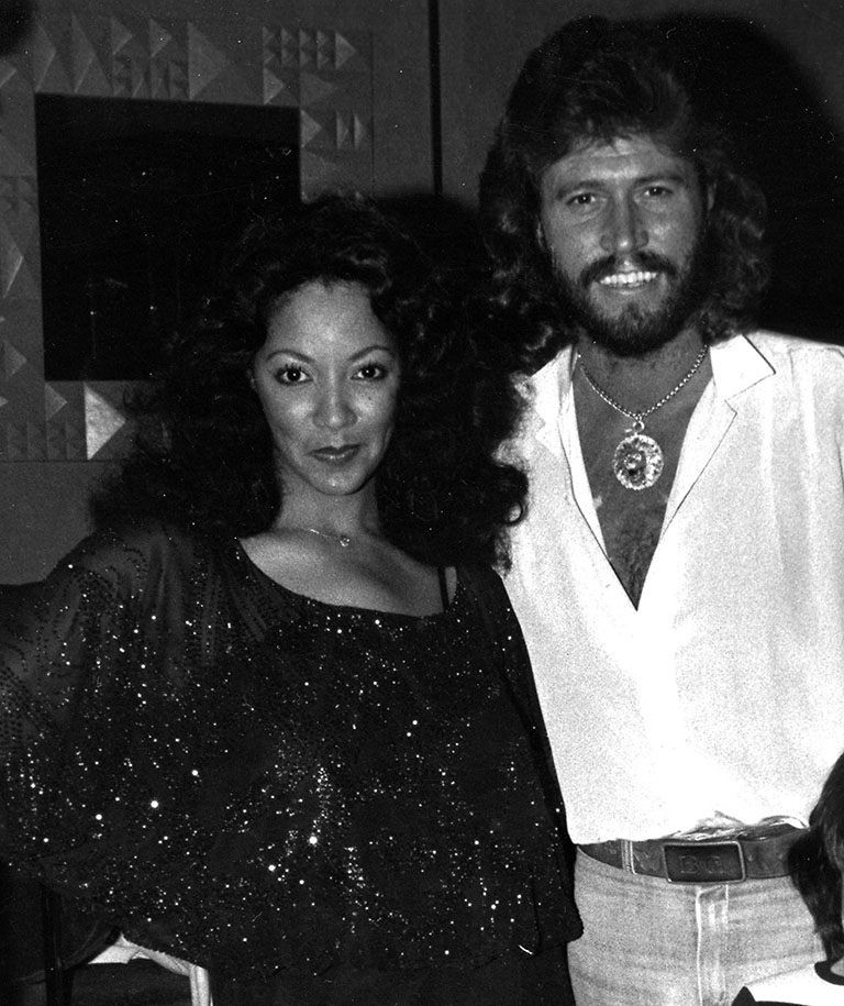 Linda and Barry Gibb after BeeGees Concert in Chicago - 1981