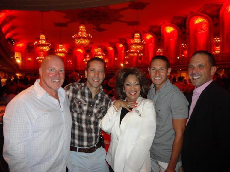 Keith Elliott, Michael Herman, Jeremy Hilbourne and Tony Savino at Dance for Life Gala Reception 2012