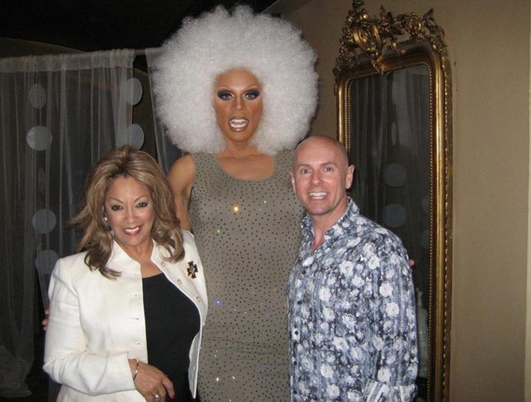 Linda, RuPaul and Michael Williams at the Castro Theater in San Franciso - 2010
