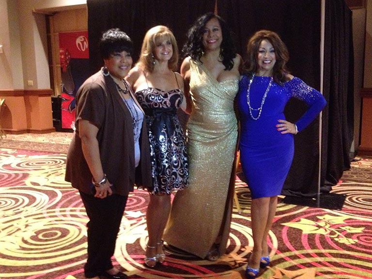Martha Wash, Pamela Stanley, Claudia Barry, and Linda at First Ladies of Disco Concert in New York at Rivers Casino
